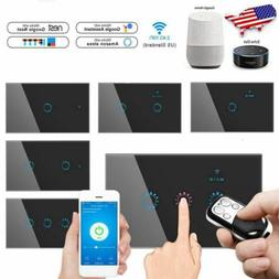 1/2/3 Gang Smart Home WiFi Touch Light Wall Switch Panel For