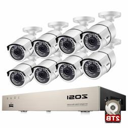ZOSI 8 Channel 1080P DVR Outdoor Home 2MP Bullet Camera CCTV