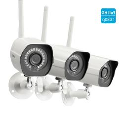 Zmodo 1080p CCTV Wireless Security Bullet IP Camera *3 Pack*