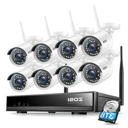 ZOSI 1080p Wireless NVR 1.3MP 2MP Outdoor Security IP Camera