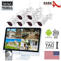 """1080P Wireless Security System IP Camera with 15"""" Monitor Ho"""