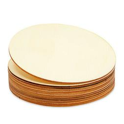 12-Pack 6-inch Unfinished Natural Rustic Round Wood Circle f