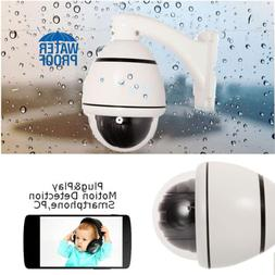 1200TVL CMOS HD 30X Zoom PTZ Dome Outdoor Home CCTV Camera f