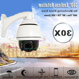 1200TVL HD CMOS 30x Speed Zoom PTZ Dome Home CCTV Camera IR
