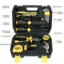US SHIP 15PCS Portable Repair Hand Tools Kit with Case for H