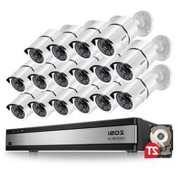 ZOSI 16 Ch Channel 1080p HDMI Surveillance CCTV DVR Security