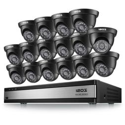 ZOSI 16 CH Channel 720p Surveillance CCTV DVR HD Security Ca