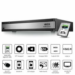 ZOSI H.265+ 16CH 1080p DVR with Hard Drive 4TB for Home Secu