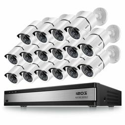 ZOSI 16Channel 720P DVR Security Camera System HD Outdoor CC