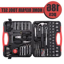 186 Pieces Home Repair Tool Kit Carbon Steel for Domestic Us