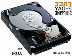 2000GB 2TB Hard Drive Internal SATA 3.5 ZOSI DVR Compatible