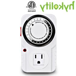 24 hour indoor plug in outlet timer