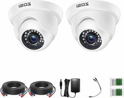 ZOSI 2PK 1080p TVI Security Dome Camera Outdoor Home Day Nig