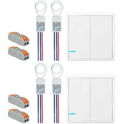 2SET 2-Way Wireless Receivers Switches Remote Control for Ho