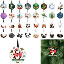 """3"""" Round Acrylic Hanging Ornaments for Xmas Tree Holiday Par"""
