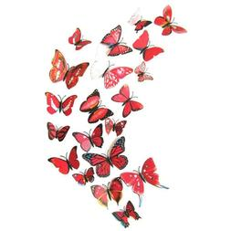 3D Butterfly Wall Sticker for Home Decoration Decals 12pcs 6