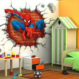 3D Spiderman Cartoon Movie HREO Home Decal Wall Sticker For