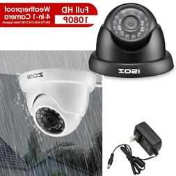 ZOSI  4-IN-1 720p HD 3.6mm TVI AHD CVI Analog Outdoor CCTV S