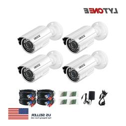 ZOSI 4-Pack 720P HD-TVI Home Surveillance Camera System Nigh