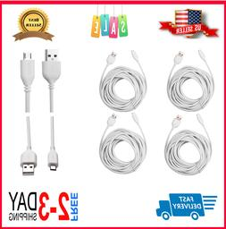 4-Pack Wyze Cam Cable 25ft, Micro USB Extension Cord for Zmo