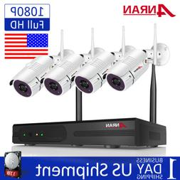 ANRAN 4CH 1080P Wireless CCTV Security Camera System Outdoor