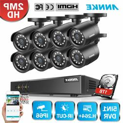 ANNKE 4CH/8CH 1080P HDMI DVR 1500TVL 720P IR Security Camera