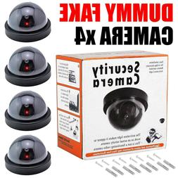 4pack/set Dummy Dome Surveillance Security Camera with LED S