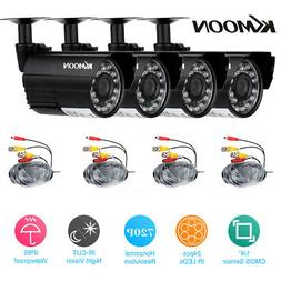KKmoon 4Pcs 720P Outdoor CCTV Camera for Home Security Surve