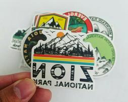 50 National Parks Outdoors Stickers Decals for Hydro flasks,