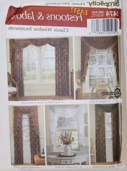 SIMPLICITY 5474 HOME DECORATING PATTERN FOR CLASSIC WINDOW T