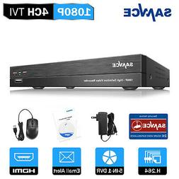 SANNCE 5in1 4CH HD 1080P CCTV DVR Video Recorder for Home Se