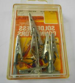 Calterm 6Pc Alligator Clips w/ Screw Set for Electrical Craf