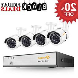 ZOSI 8 Channel 1080N DVR 1TB Hard Drive 720P Outdoor CCTV Se