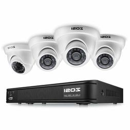 ZOSI 8-Channel HD-TVI 720P Video Security Camera System , 10