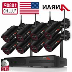 ANRAN 8CH 1080P Home Security Camera System Wireless Outdoor