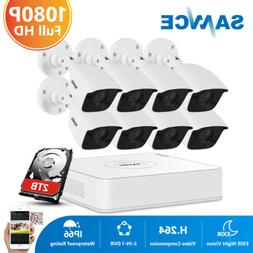 SANNCE 8CH Home Security Camera System 1080P HDMI DVR 720P 1