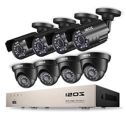 ZOSI 8CH Security Camera System Full 1080P HD-TVI Video DVR