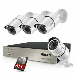 ZOSI 8 Channel 1080p POE IP Security Camera System 1T Outdoo