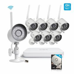 Funlux 1080p 8CH NVR 8 1.0MP IP Network Outdoor Wireless Hom