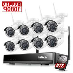ZOSI 960P Wireless Security IP Camera System 8CH 1080p WIFI