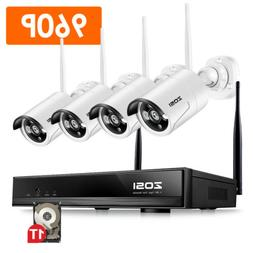 ZOSI 960P Wireless Security Outdoor Camera System 1080p Wifi