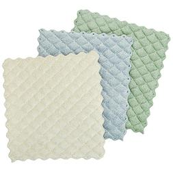 Envision Home 3-Pack Microfiber Quilted Kitchen Dish Cloths,