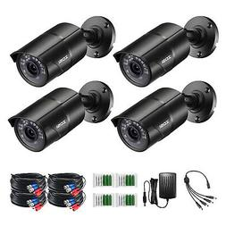 ZOSI 4PK 1080P TVI Security Camera Outdoor for CCTV Home Sur