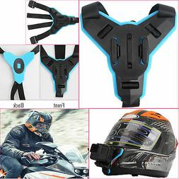 Action Camera Motorcycle Helmet Chin Mount Holder Strap For