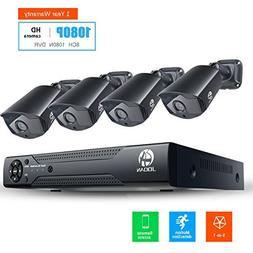 JOOAN HD Security Camera System 4 X 1080P Weatherproof TVI C