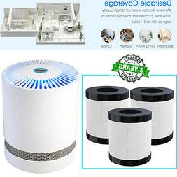 Air Purifier Indoor Air Cleaner with 3-in-1 True HEPA Filter