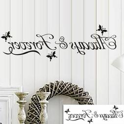 Always & Forever Bedroom Wall Sticker For Home Decoration Wa