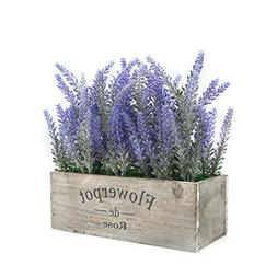 Velener Artificial Flower Potted Lavender Plant for Home Dec