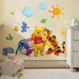 Cartoon Animal Removable Wall Stickers For Kids Room Bedroom