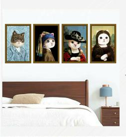 cute cats wall sticker for home decal